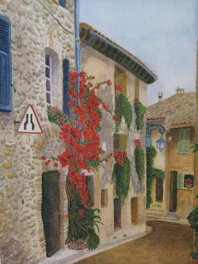 France Painting - Small French Village by Barbara Pascal