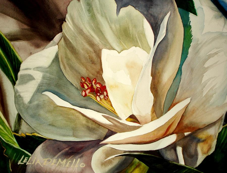 Floral Painting - Small Gardenia by Lelia DeMello