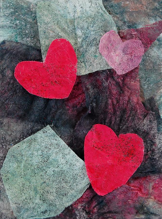 Hearts Mixed Media - Small Hearts by Charla Van Vlack
