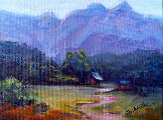 Small Landscape Study Painting by Geri Acosta
