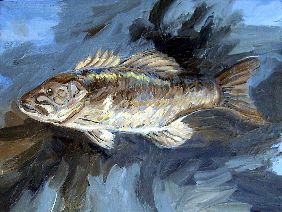 Small Mouth Bass Painting by Cameron Hampton PSA