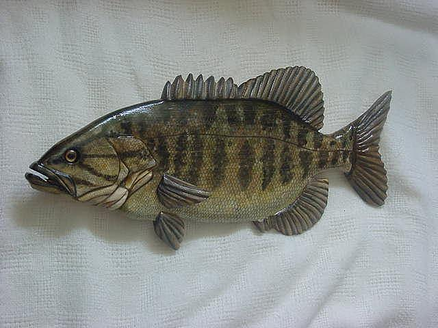 Fish Relief - Small Mouth Bass Number Two-sold by Lisa Ruggiero
