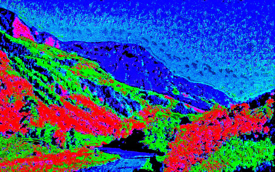 Small River Valley D3 Digital Art by Modified Image