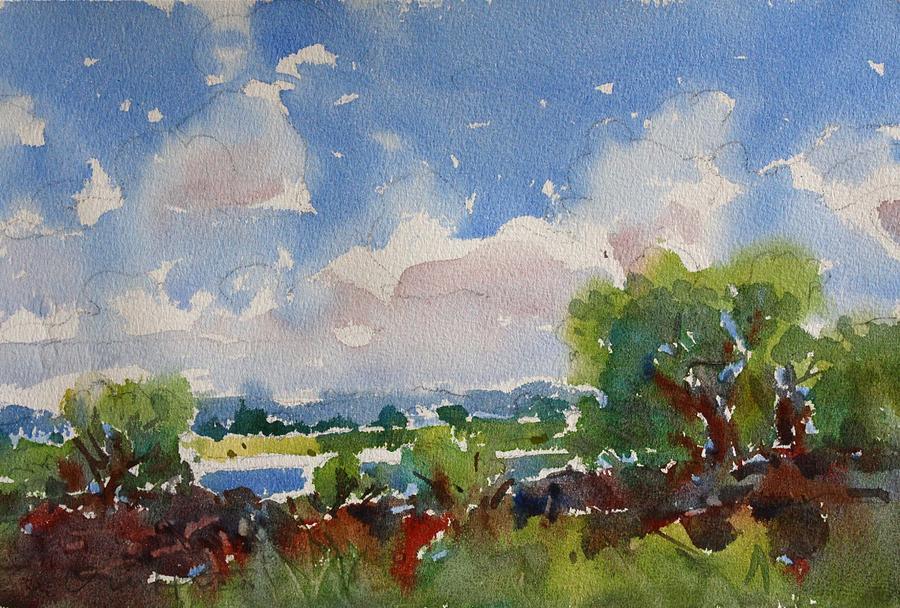 Owen Hunt Painting - Small Riverside by Owen Hunt