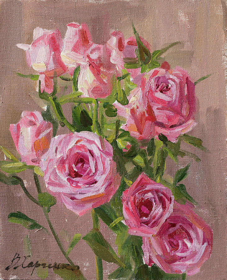 Small Roses Painting