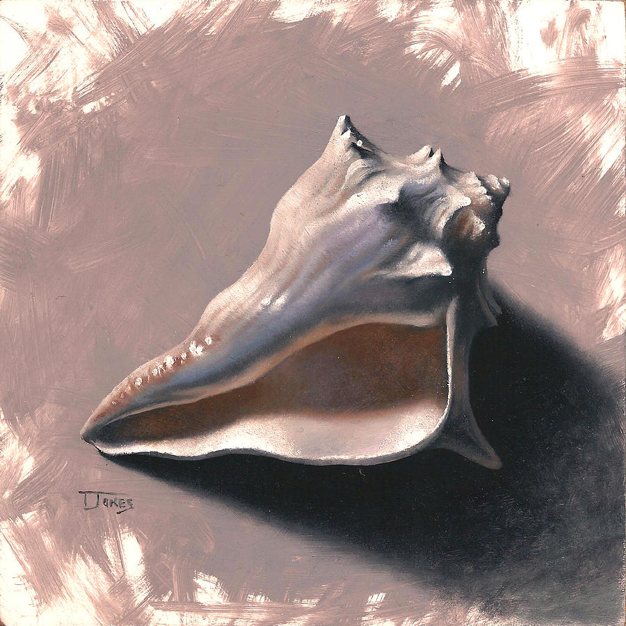 Beach Painting - Small Seashell by Timothy Jones