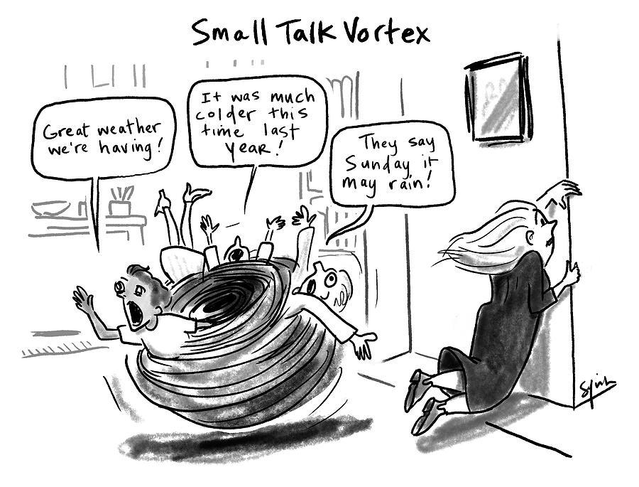 Small Talk Vortex Drawing by Sofia Warren