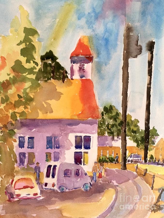 Church Bells Painting - Small Town America by Patsy Walton