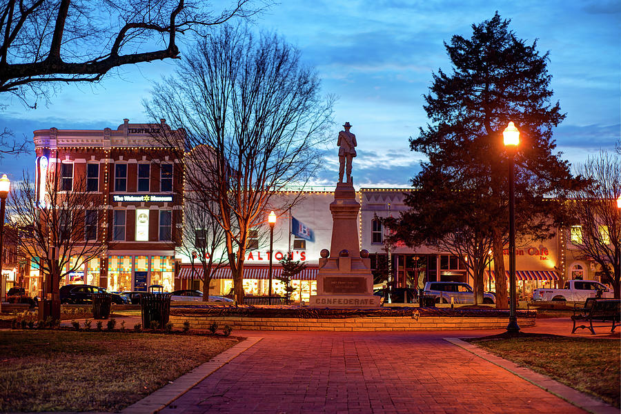 America Photograph - Small Town America Skyline - Downtown Bentonville Square  by Gregory Ballos