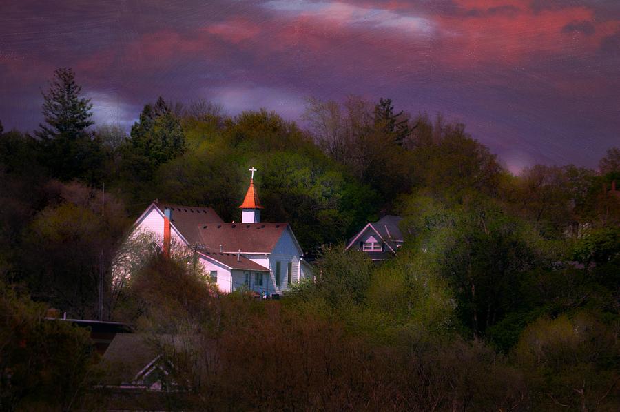Small Town Church Photograph by Kim Blaylock
