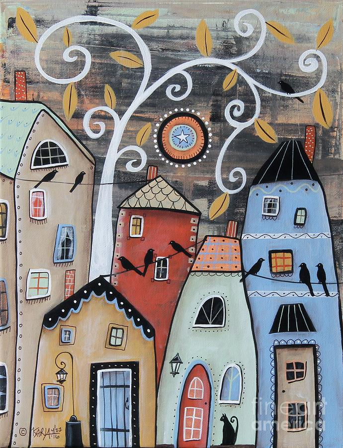 Landscape Painting - Small Town by Karla Gerard