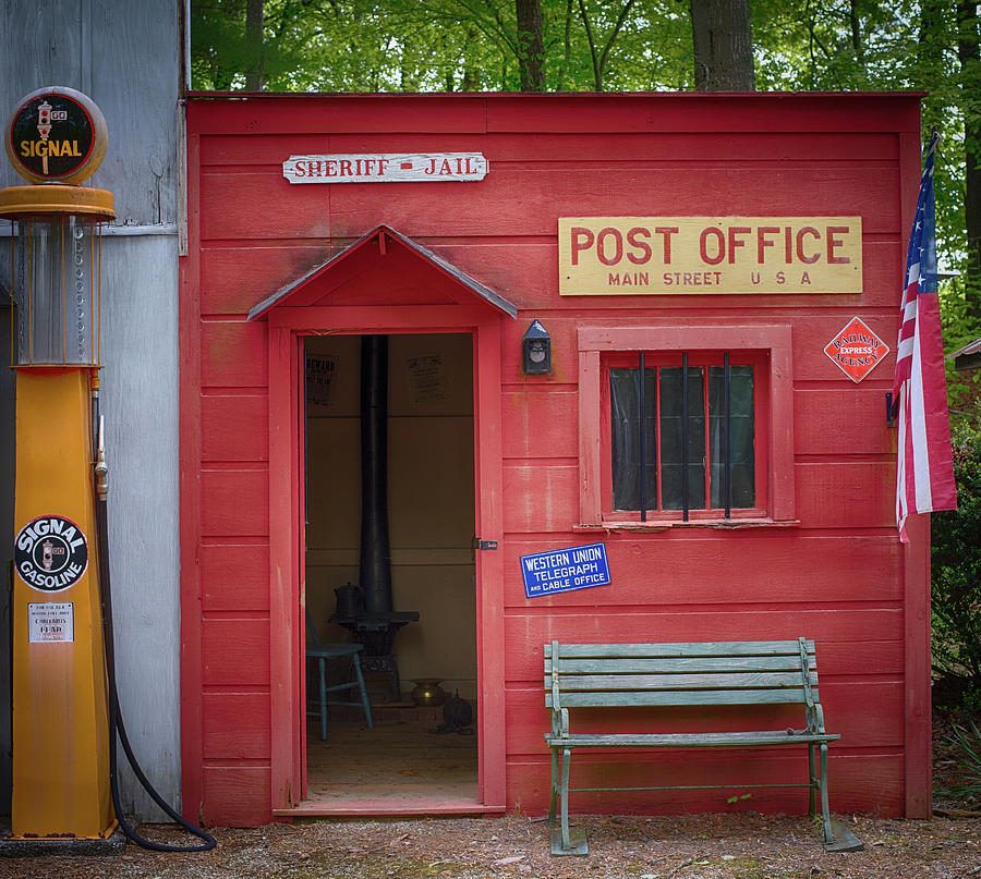 Small Town Post Office Photograph By Paul Freidlund