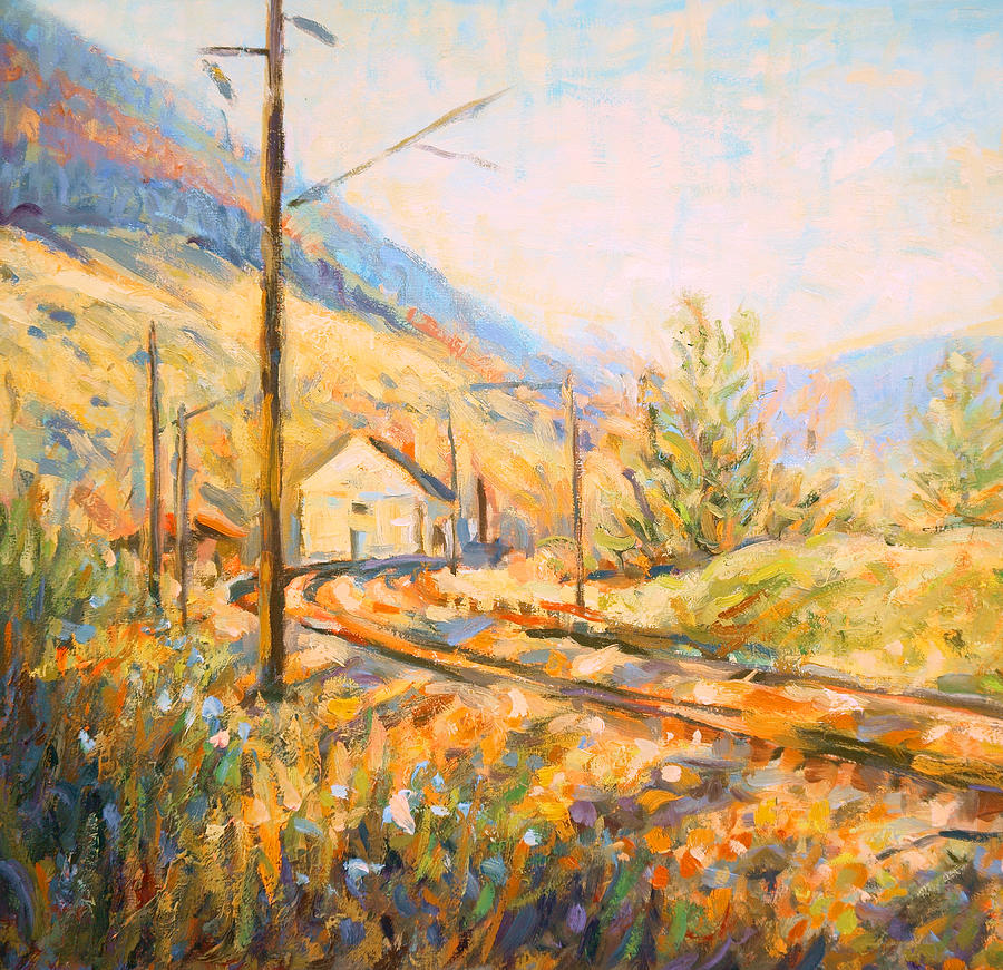 Small Village Railway Station Painting By Dusan Balara