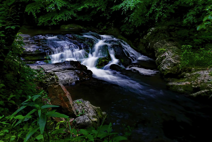 Waterfall Photograph - Small Waterfall  by Elijah Knight