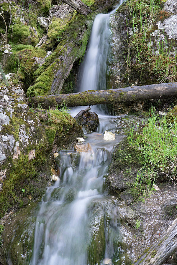Waterfalls Photograph - Small Waterfall by George Sanquist