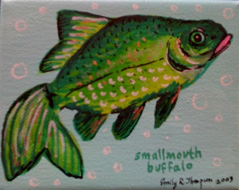 Smallmouth Buffalo Painting by Emily Reynolds Thompson