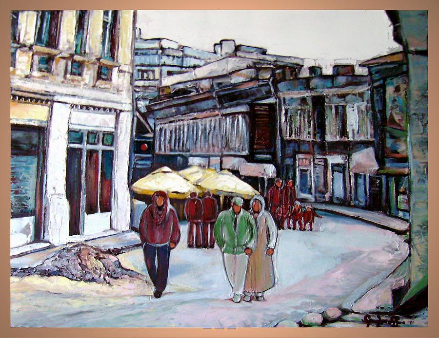 Original Painting - Smardan Str. Bucuresti Historic Centre by Luminita Feodoroff