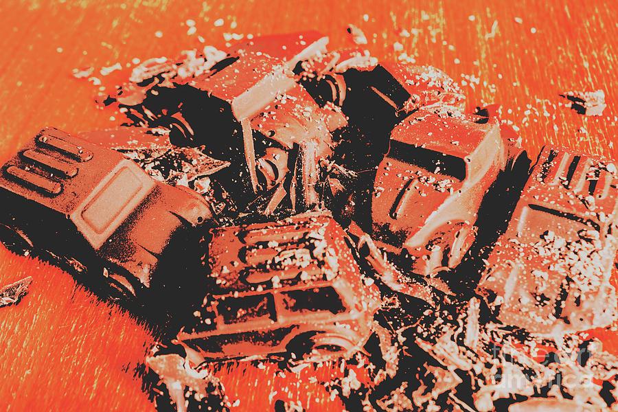 Destruction Photograph - Smashem Crashem Cars by Jorgo Photography - Wall Art Gallery