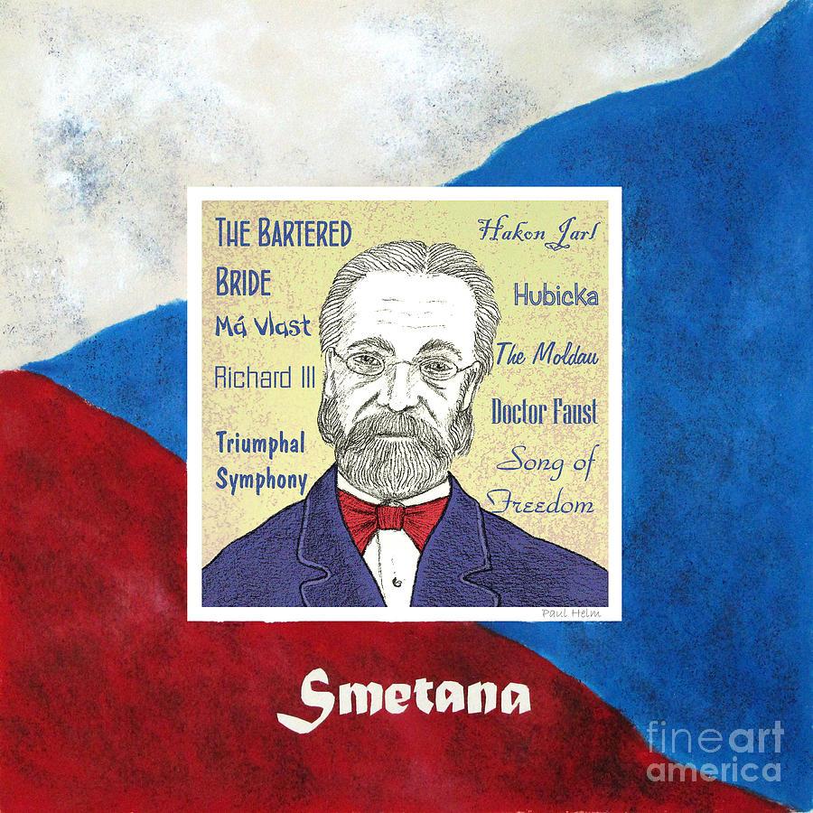 Smetana Drawing - Smetana by Paul Helm