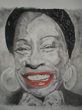 Betty Carter Drawing - smile by B Jaxon