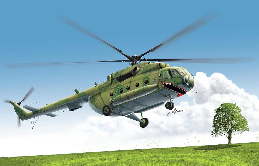 Helicopter Digital Art - Smile by Daniel Uhr