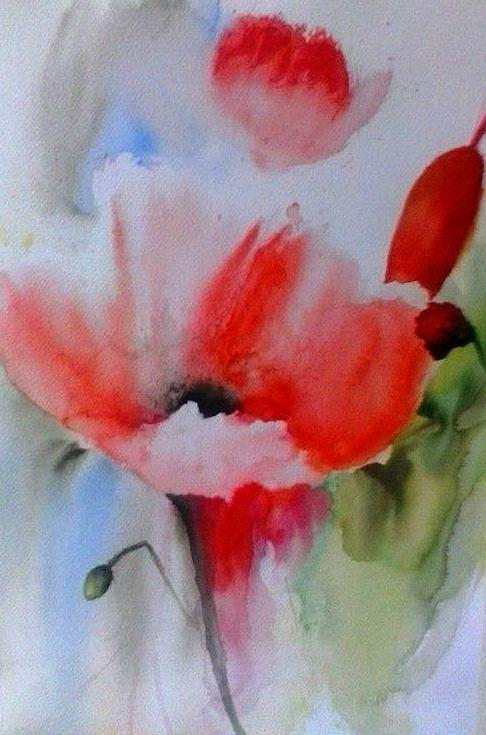 Flowers Painting - Smile by Draia Coralia
