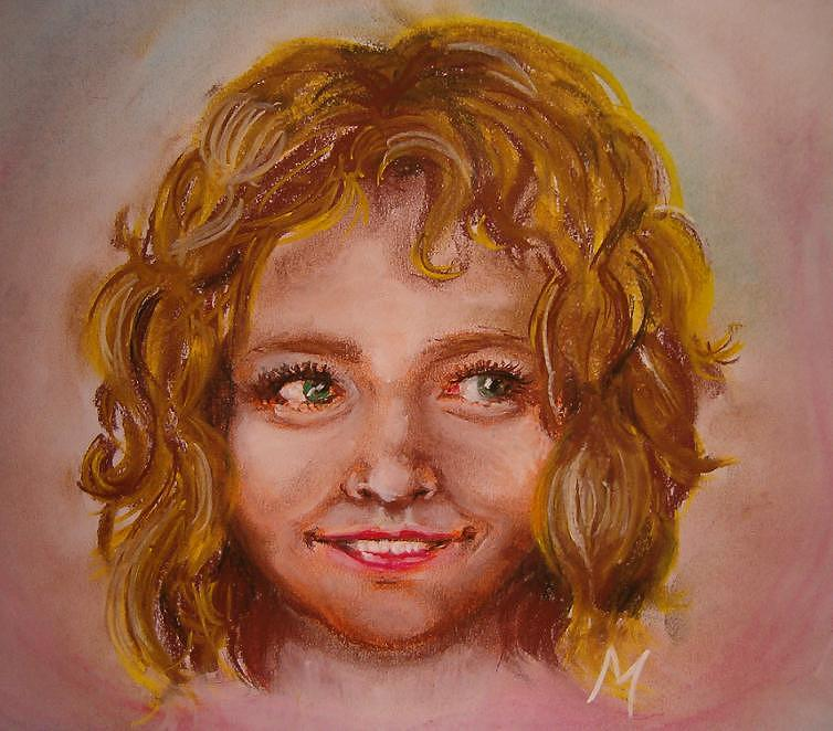 Girl Pastel - Smile by Melinda Molnar