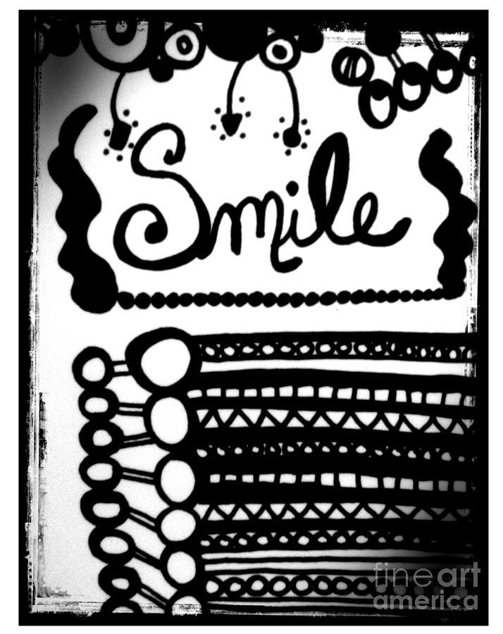 Doodle Drawing - Smile by Rachel Maynard