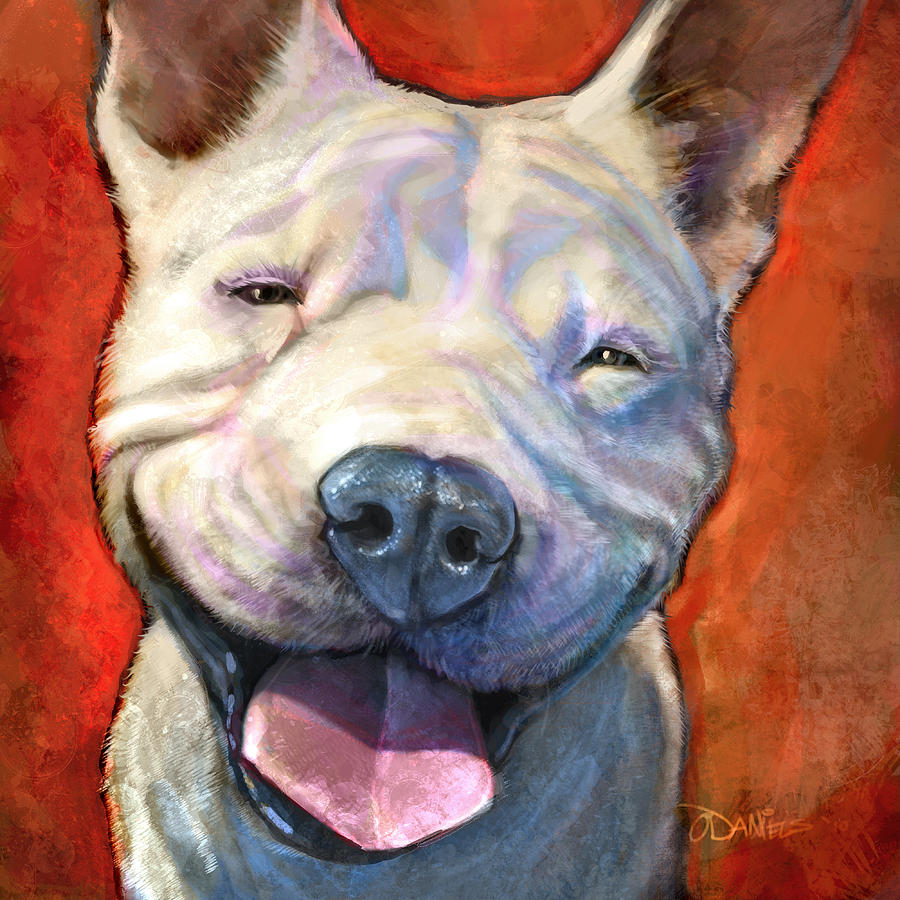 Dogs Painting - Smile by Sean ODaniels