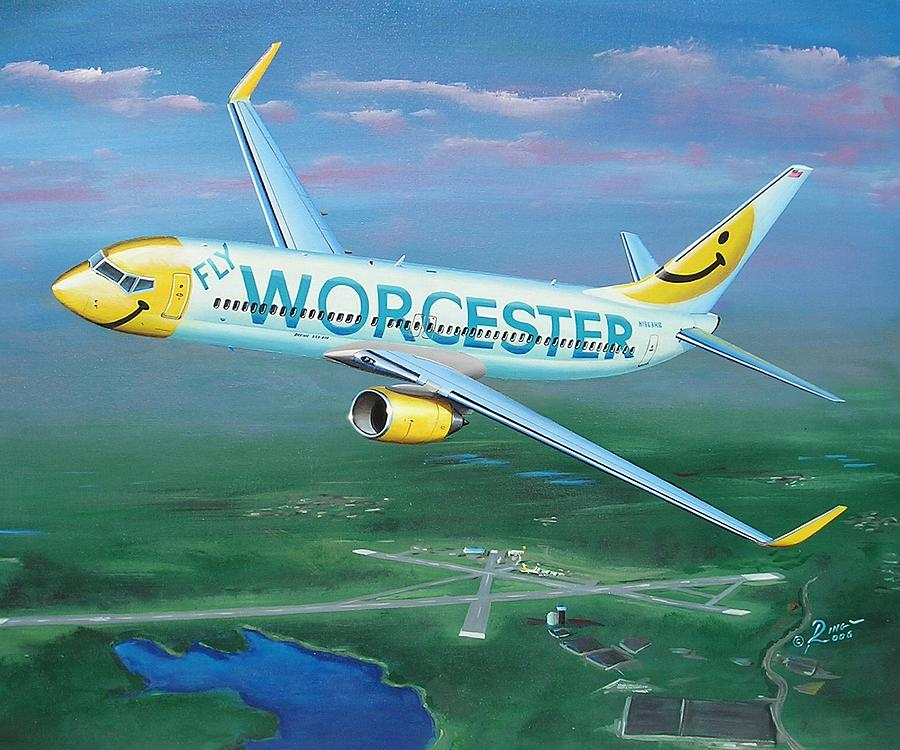 Korh Painting - Smiles over Worcester  by Peter Ring Sr