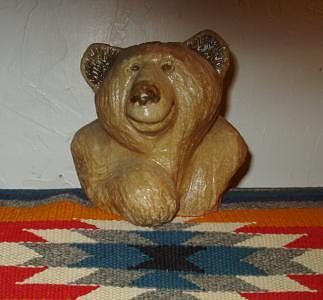 Smiley Bear Sculpture by William Luke