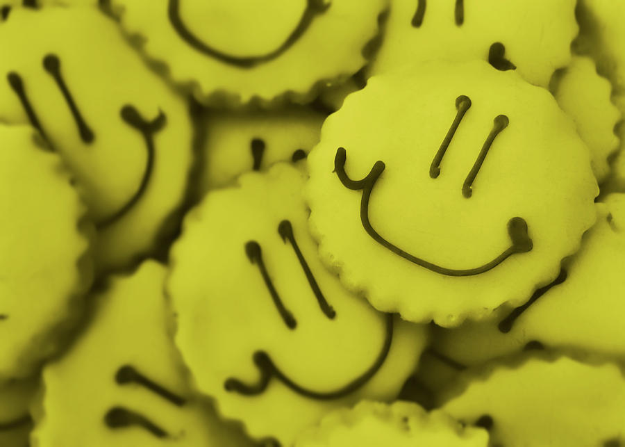Cookie Photograph - Smiley Face by JAMART Photography