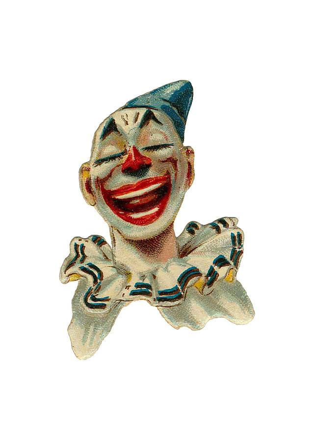 Vintage Clown Digital Art - Smiley by ReInVintaged