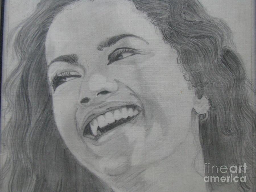 Smiling Girl Drawing by Zarina MV