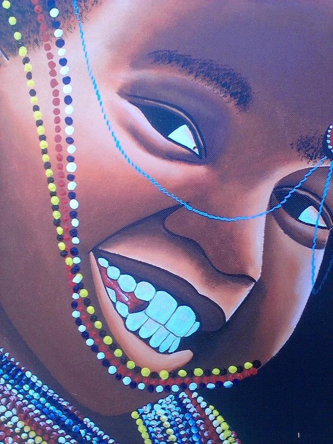 Smiling Kid Drawing by Amos Murigi