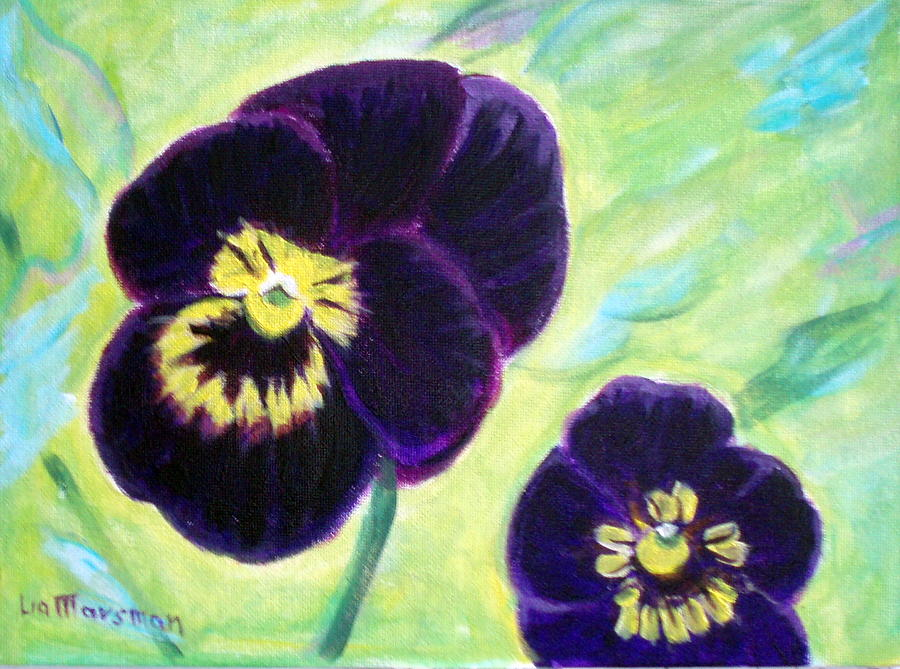 Flowers Painting - Smiling Pansy by Lia  Marsman