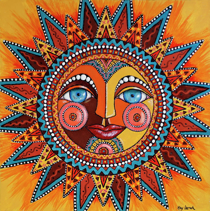 Sun Painting - Smiling Sun by Kay Larch