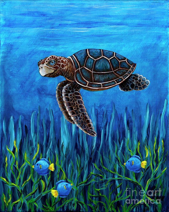 Smirking Turtle by Rebecca Parker