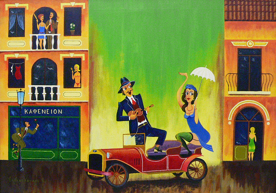 Music Painting - Smirnis Av. 2nd by Efthimios Papadopoulos