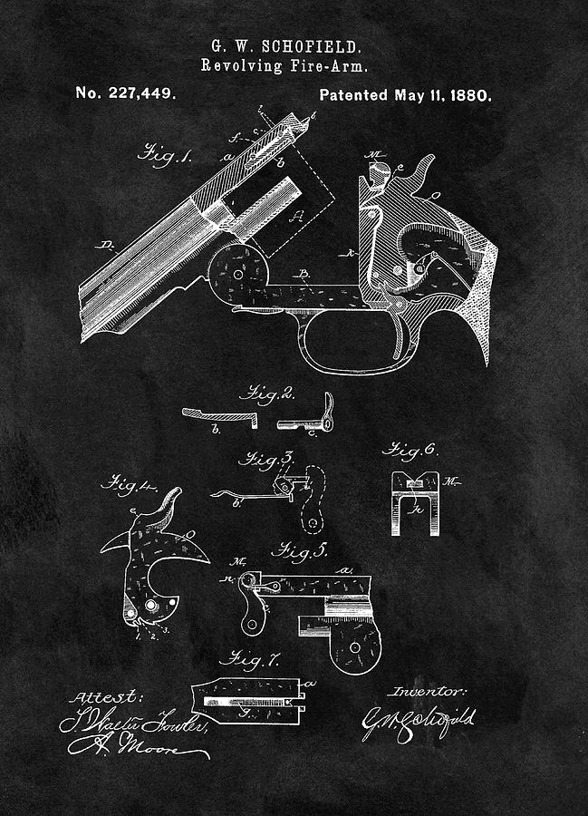 Smith And Wesson Drawing - Smith And Wesson Model 3 Patent by Dan Sproul