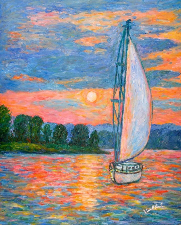 Sailboat Painting - Smith Mountain Lake by Kendall Kessler