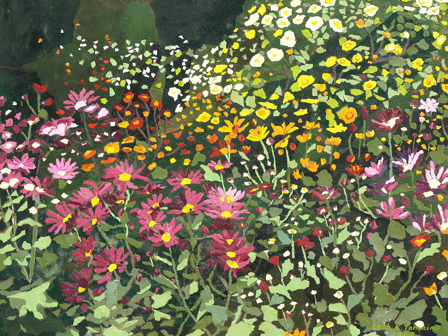 Floral Painting - Smith Mums by Leah  Tomaino