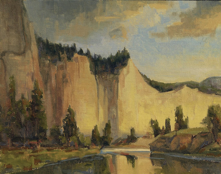 Jorge Braun Tarallo, Cowboy on a Cliff, Painting