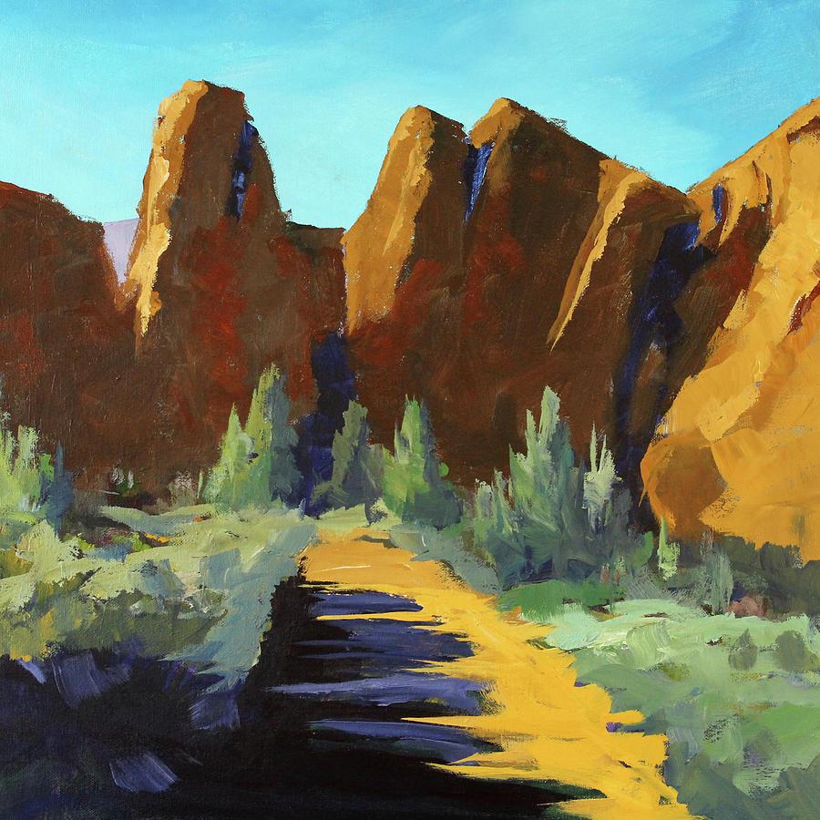 Oregon Painting - Smith Rock by Nancy Merkle