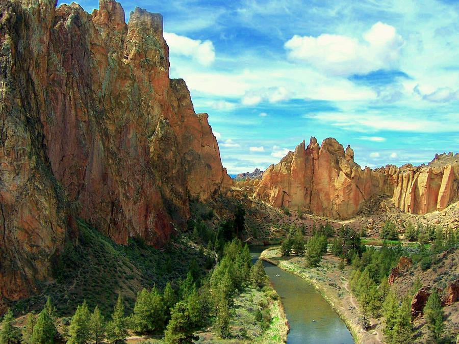 Smith Rock State Park Photograph by Terry Jones