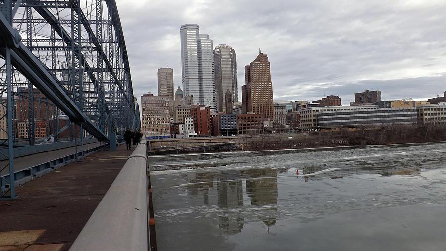 Pittsburgh Pennsylvania Photograph - Smithfield Bridge To Downtown by Joyce Wasser