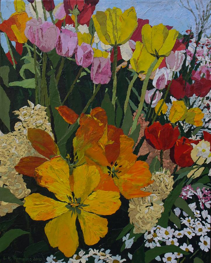 Floral Painting - Smiths Bulb Show by Leah  Tomaino