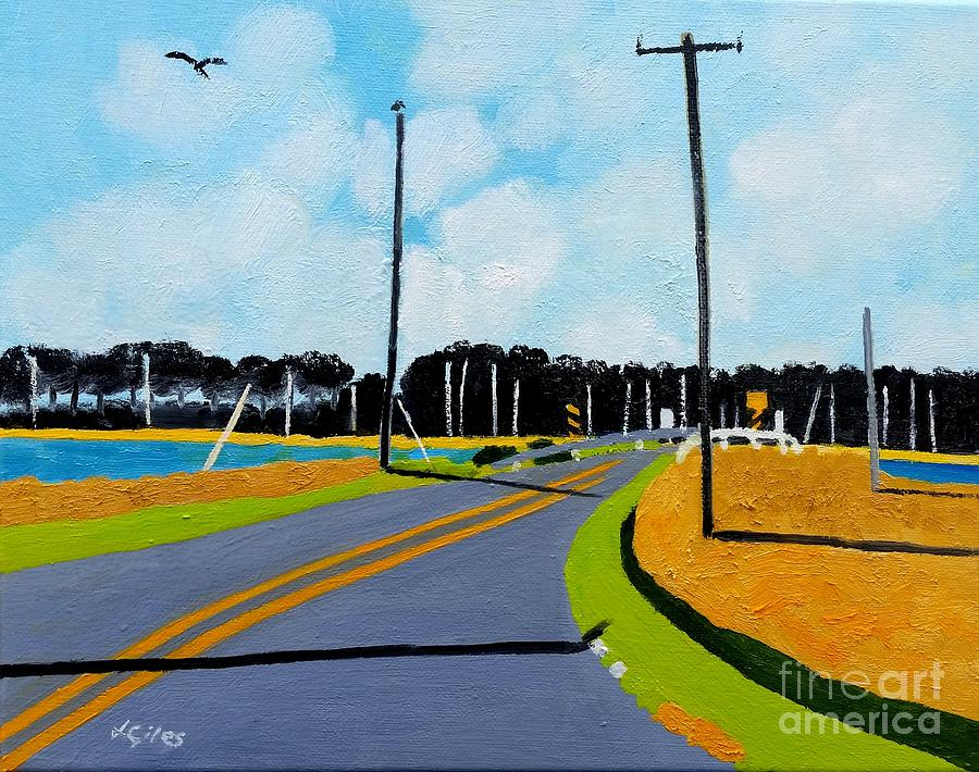 Chesapeake Painting - Smithville Boat Ramp by Lesley Giles