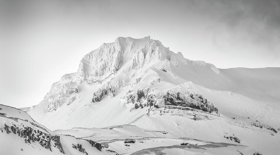 Iceland Photograph - Smjorhnukur Cloaked In White by Glen Sumner