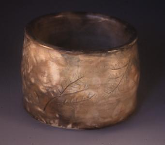Earthenware Ceramic Art - Smoke Fired Bowl by Megan Burns